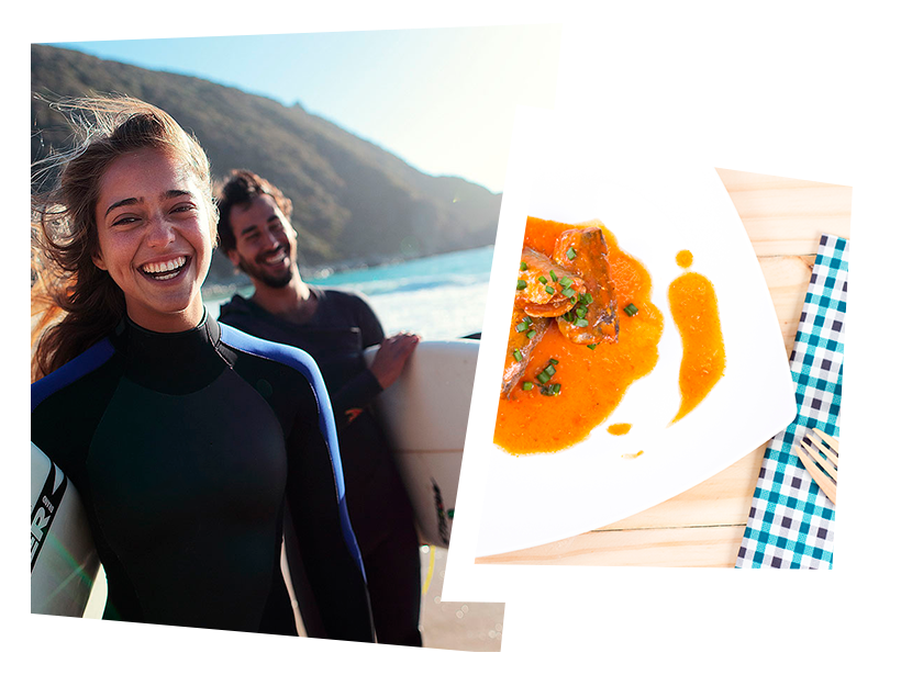 Bodegón conservas Pescamar a la venta en tienda online perfectas para surfistas