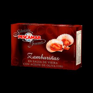 Conserva Gourmet de zamburiñas Pescamar a la venta en la tienda online